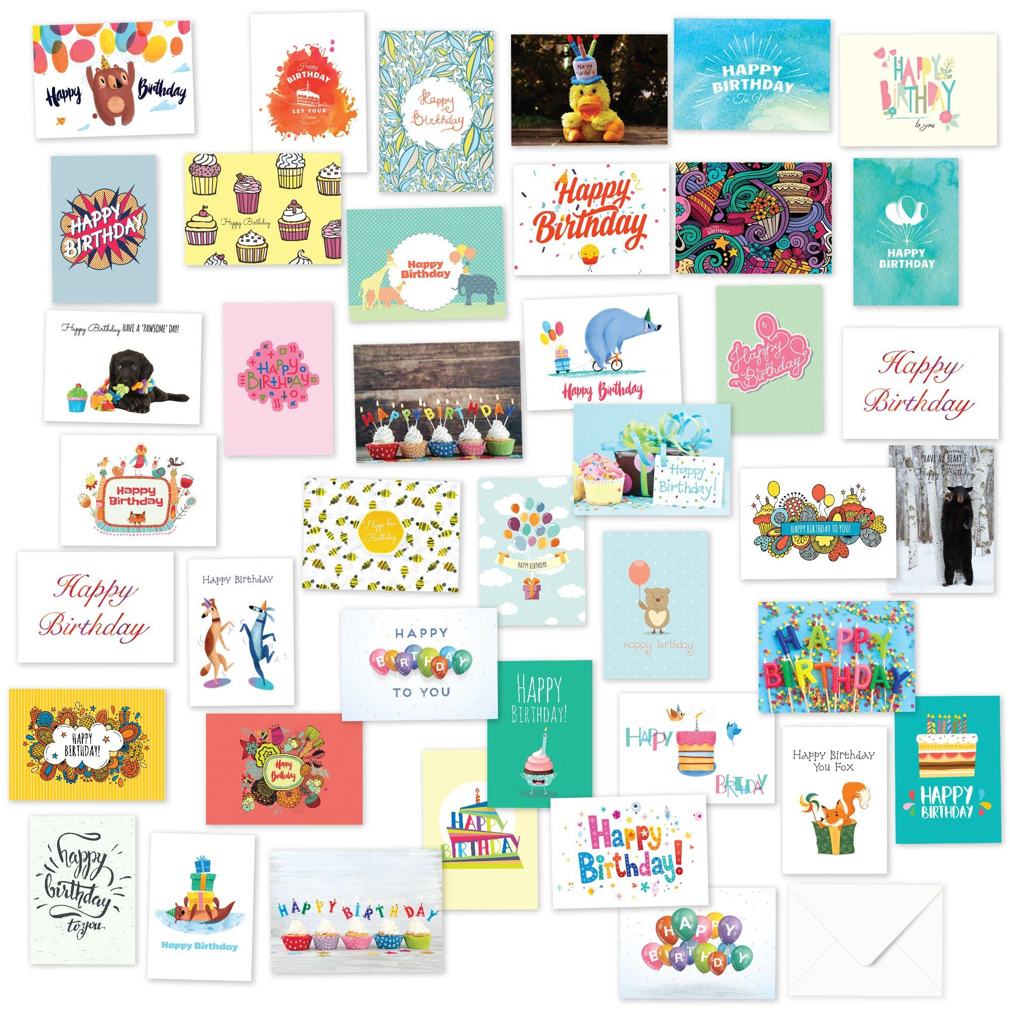 Greeting Cards Invitations 48pc Bulk Happy Birthday Card