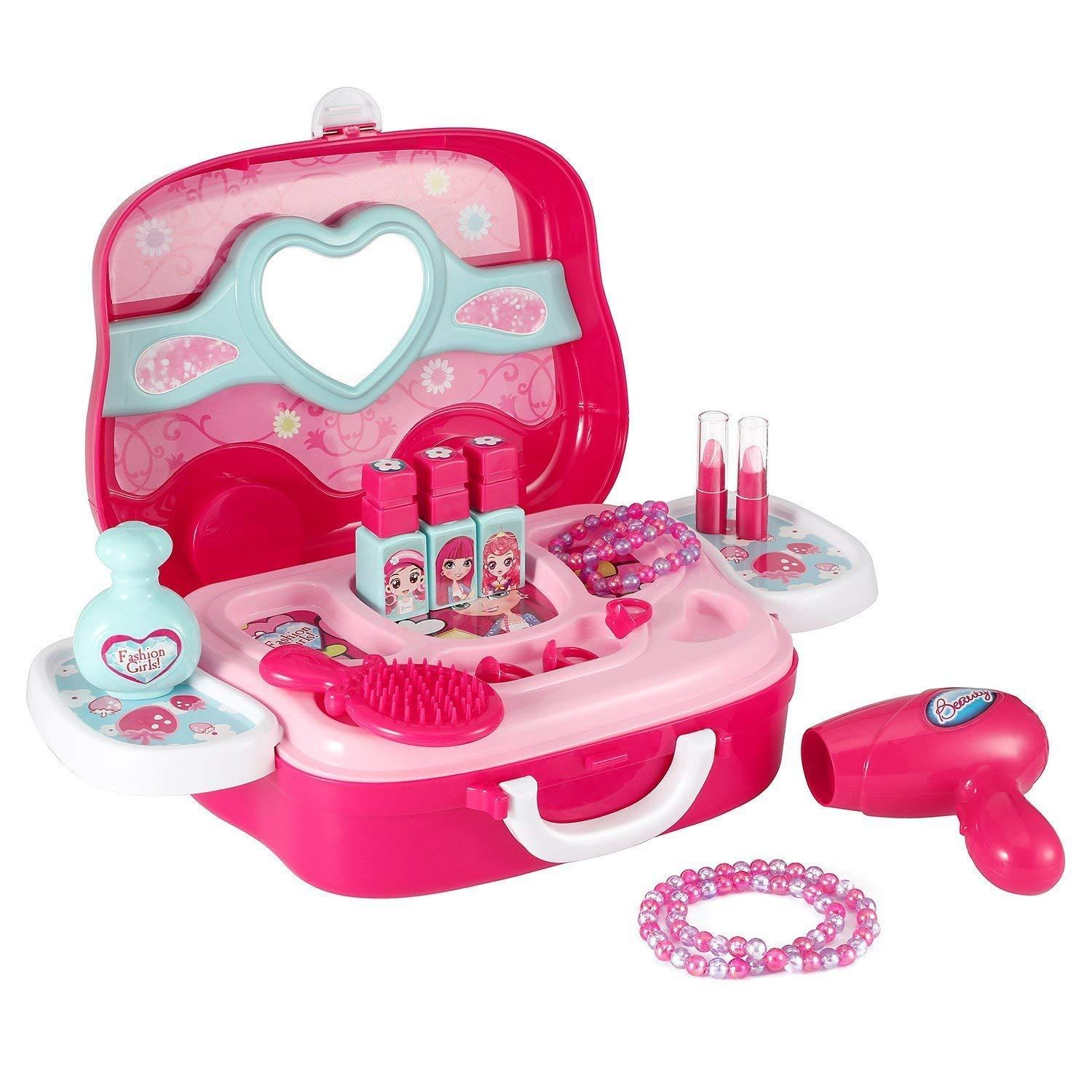 c993f0dc3 Little Girls Pretend Makeup Kit Cosmetic Pretend Play Set Kids Beauty Salon  5 5 of 7 ...